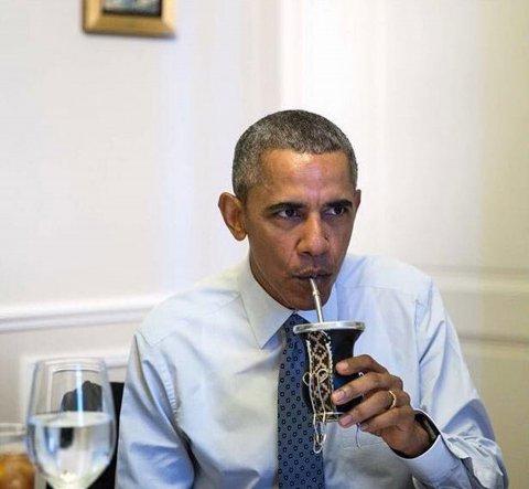 Un nuevo fanático del mate: Barack Obama