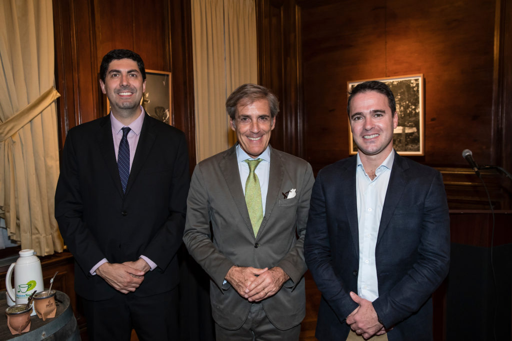 Ernesto Cordeiro, gerente comercial Yerba Verdeflor, Alejandro Nervegna, Marcelo Martín Giusto